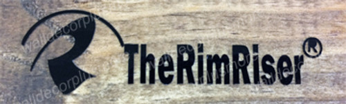 The RimRiser sticker decal for manufacture purchase only. Black Glossy Qty 100.