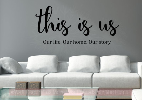 This Is Us Kitchen Wall Decals Vinyl Lettering Stickers for Home Decor-Black
