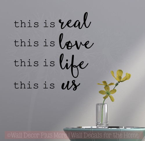 This Is Real This Is Us Home Decor Wall Decal Stickers Bedroom Quotes Black