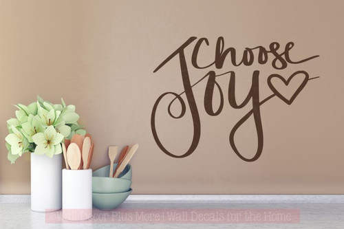 Choose Joy Inspirational Wall Decals Vinyl Stickers for Home Decor-Chocolate Brown