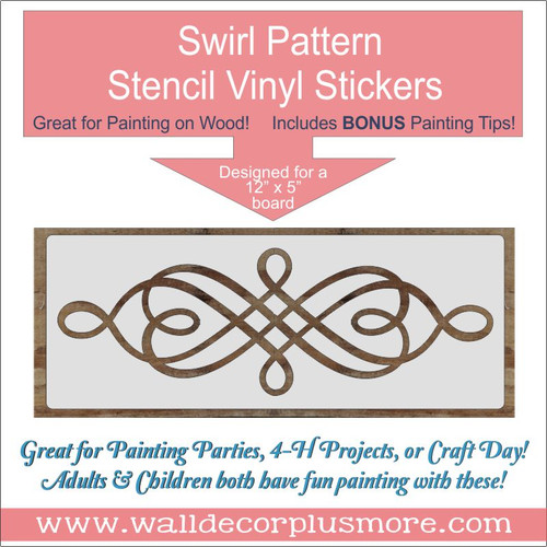 Swirl Pattern Stencil DIY Wood Home Decor DIY Vinyl Art Stickers