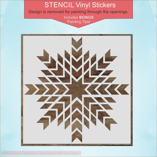 Barn Quilt Design Stencil Art DIY Wood Farmhouse Vinyl Stickers Home Decor