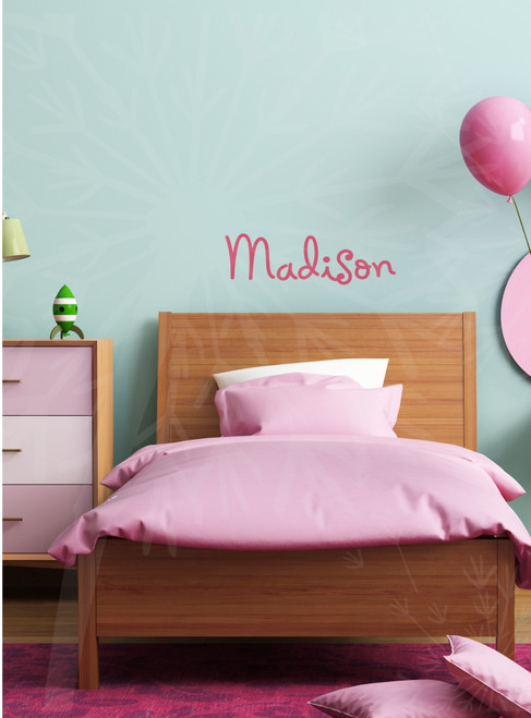 Wall Name Decal , Great for Kids Room, 12x36, Lipstick, Holiday Springs font