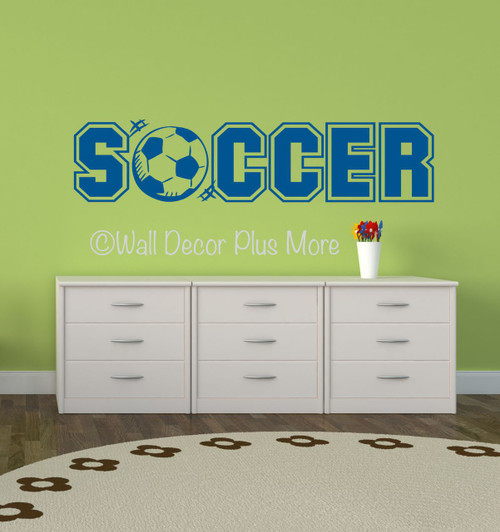 Soccer Sports Wall Decals Stickers For Boys Cool Room Decor ...