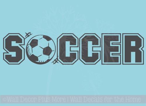 Soccer Ball Sports Wall Art Decal Sticker for Room Decor