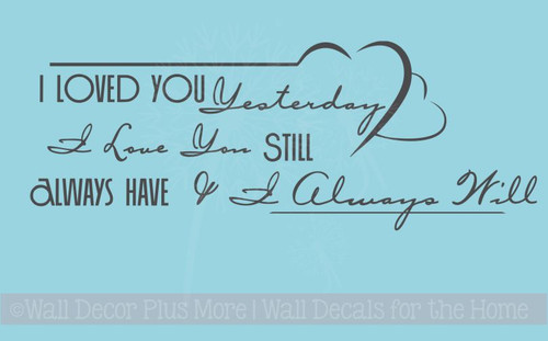 Always Love You Wall Decal Stickers Vinyl Lettering Bedroom, Wedding Gift Idea