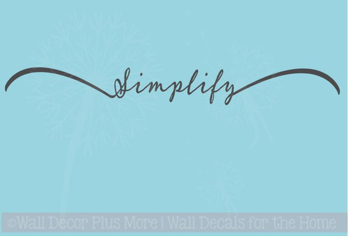 Simplify Inspirational Wall Decal Quote Vinyl Sticker Lettering