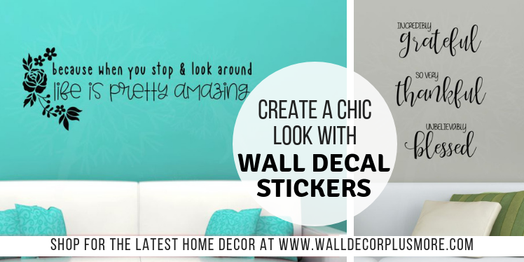 Create a Chic Look with Affordable Vinyl Wall Decal Stickers