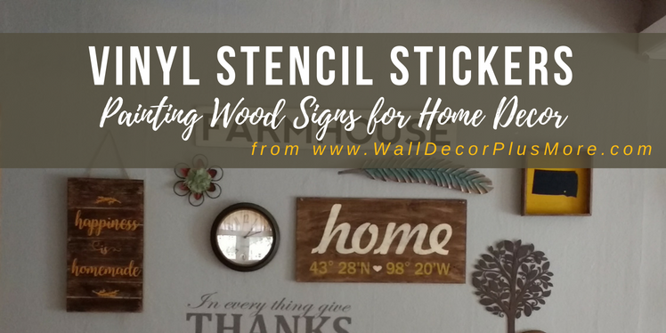 Use Stencils for Painting Wood Board Signs for Home Decor