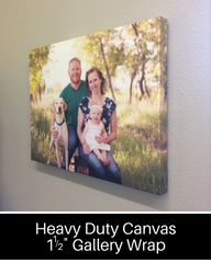 Order your Photo Canvas Prints on Heavy Duty Gallery Wraps here!