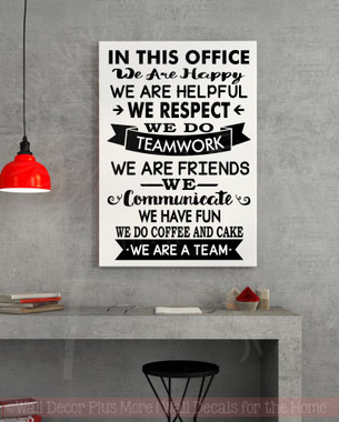 fun office wall decor photo. In This Office We Are Team Vinyl Decals Wall Stickers Art Work Decor Quotes Fun Photo L