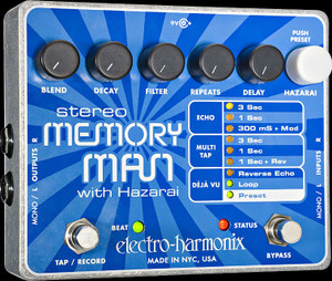 Copy of Electro Harmonix  Stereo Memory Man with Hazarai