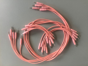 Glow Worm Cables 50CM Glow in the Dark EURORACK PATCH CABLE (SET OF 10) Pink
