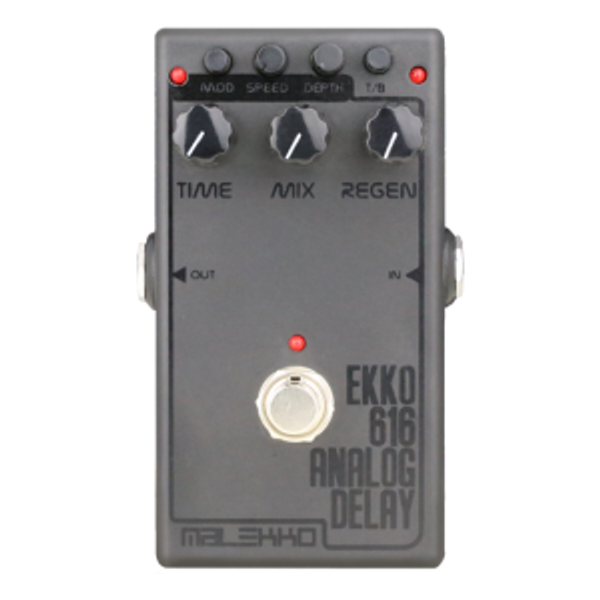 Malekko Ekko 616 650ms Analog Delay Pedal DARK
