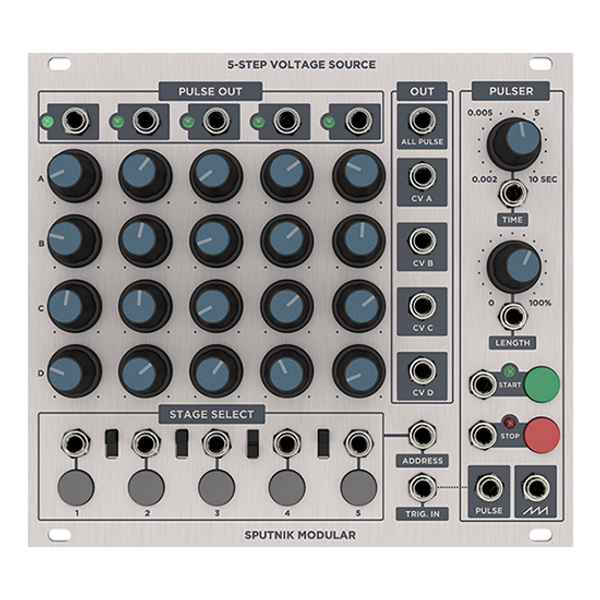 SPUTNIK – 5 STEP VOLTAGE SOURCE (regular knobs)