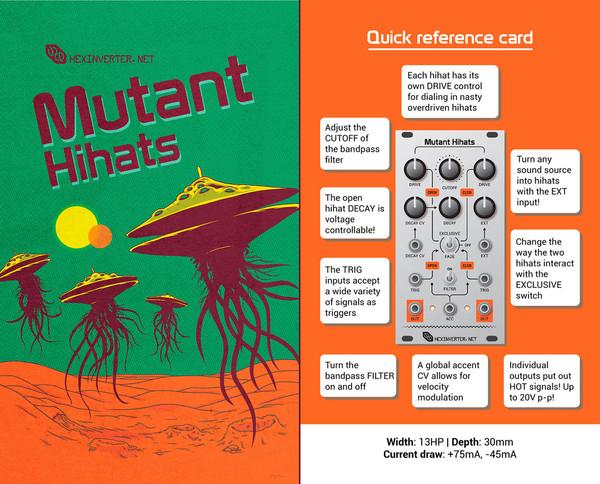 Hexinverter Électronique MUTANT HIHATS dual analog hihats (open+closed)