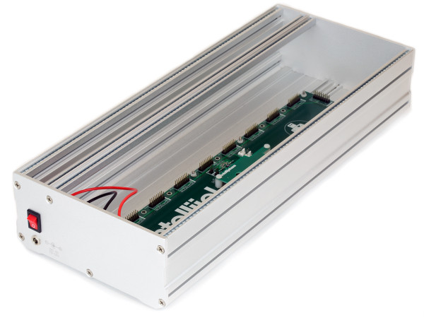 Max. internal depth for modules: 70 mm Internal depth for modules above the highest point of the power bus board:  53 mm  42 HP outside dimensions:  177.4 mm x 81.3 mm x 218.3 mm weight:  1.2 kg power: TPS30 MINI +12V output at 1.2A, -12V output at 1.2A, +5V output at 500mA 84 HP outside dimensions: 177.4 mm x 81.3 mm x 435.6 mm weight: 2.1 kg power: TPS30 MAX +12V output at 1.5A, -12V output at 1.5A, +5V output at 1A 104 HP outside dimensions: 177.4 mm x 81.3 mm x 537.3 mm weight: 2.6 kg power: TPS30 MAX +12V output at 1.5A, -12V output at 1.5A, +5V output at 1A