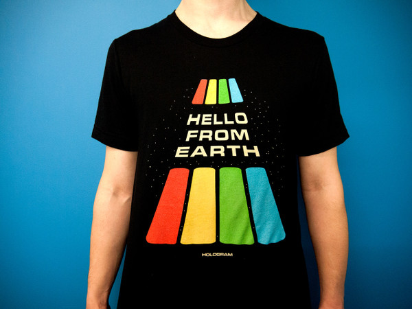 HOLOGRAM  HELLO FROM EARTH T-SHIRT