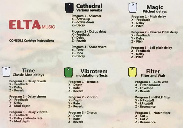 ELTA MUSIC CONSOLE CARTRIDGE FX DEVICE ( WHITE) W/ 10 CARTRIDGES