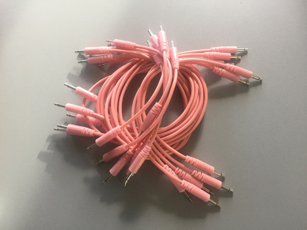 Glow Worm Cables 125CM Glow in the Dark EURORACK PATCH CABLE (SET OF 10) Pink