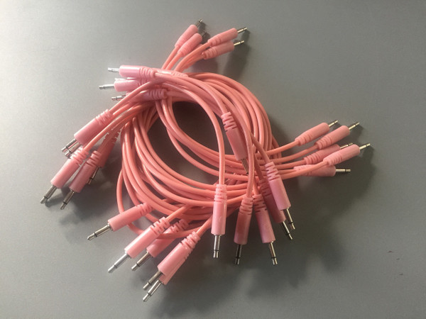 Glow Worm Cables 80CM Glow in the Dark EURORACK PATCH CABLE (SET OF 10) Pink