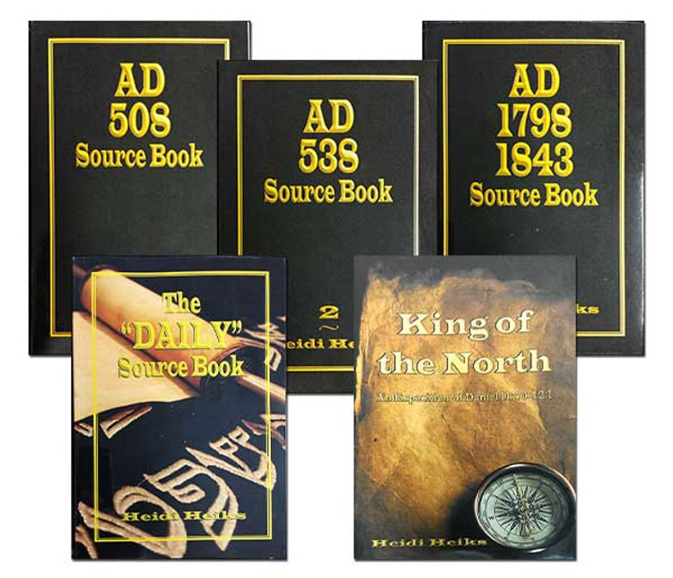 "5 Book Set on: AD 508, 538, 1798 1843, The ""Daily"" Source Book, and King of the North"