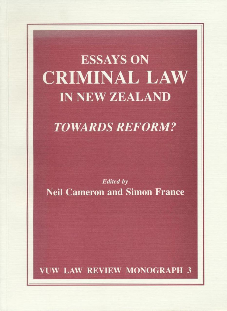 Essays on Criminal Law in New Zealand