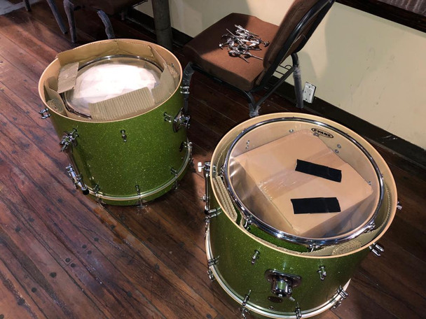 Ddrum Green Sparkle Demo Shell Pack No Hardware