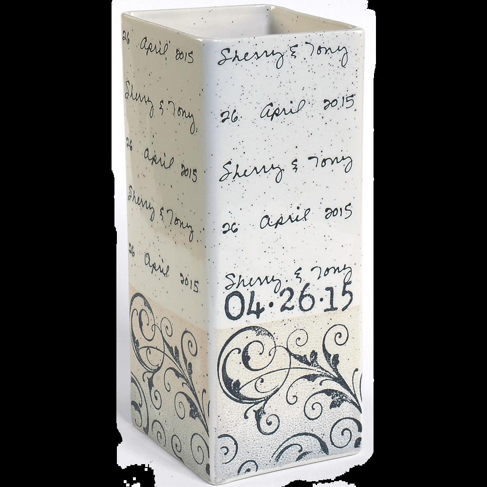Scroll Cursive Wedding Vase