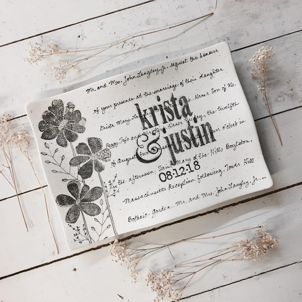 Flower Wedding Invitation Flare