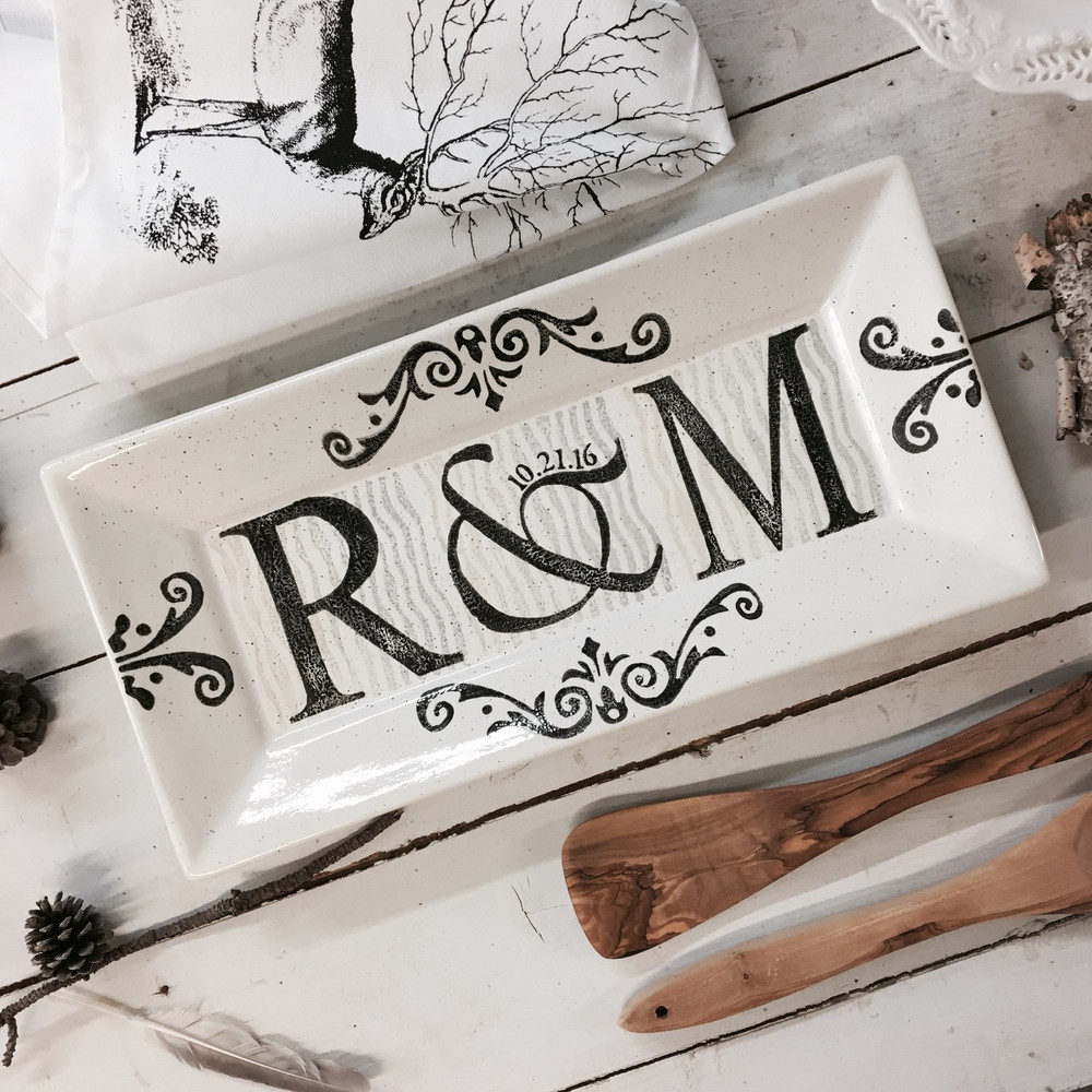 Monogrammed Wedding Gifts Personalized Wedding Platter