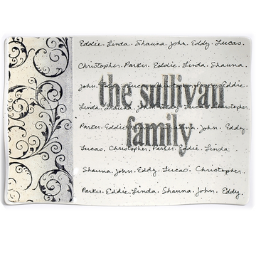 Scroll Family Name Flare