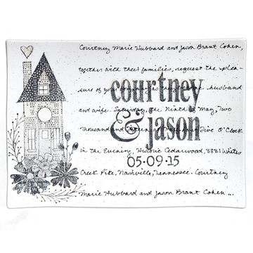 Personalized Home Wedding Invitation Platter