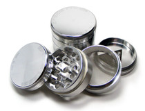 Space Case Magnetic Grinder 4 Piece Silver - Medium