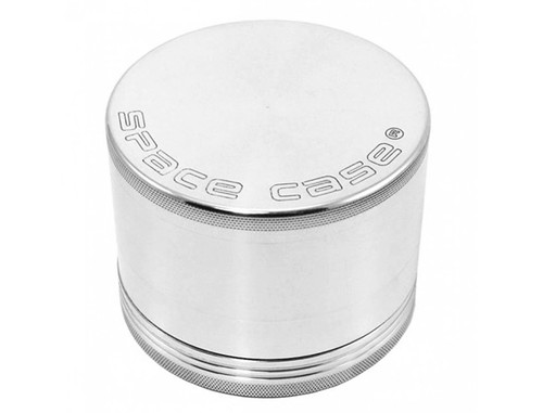 Space Case Grinder Titanium Magnetic 4 Piece Silver Large