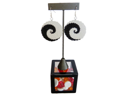 Telephone Wire Earrings - African Eclipse