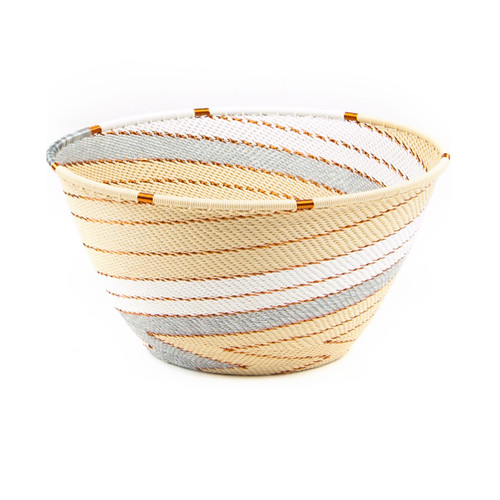 Bowl made out of telephone wire