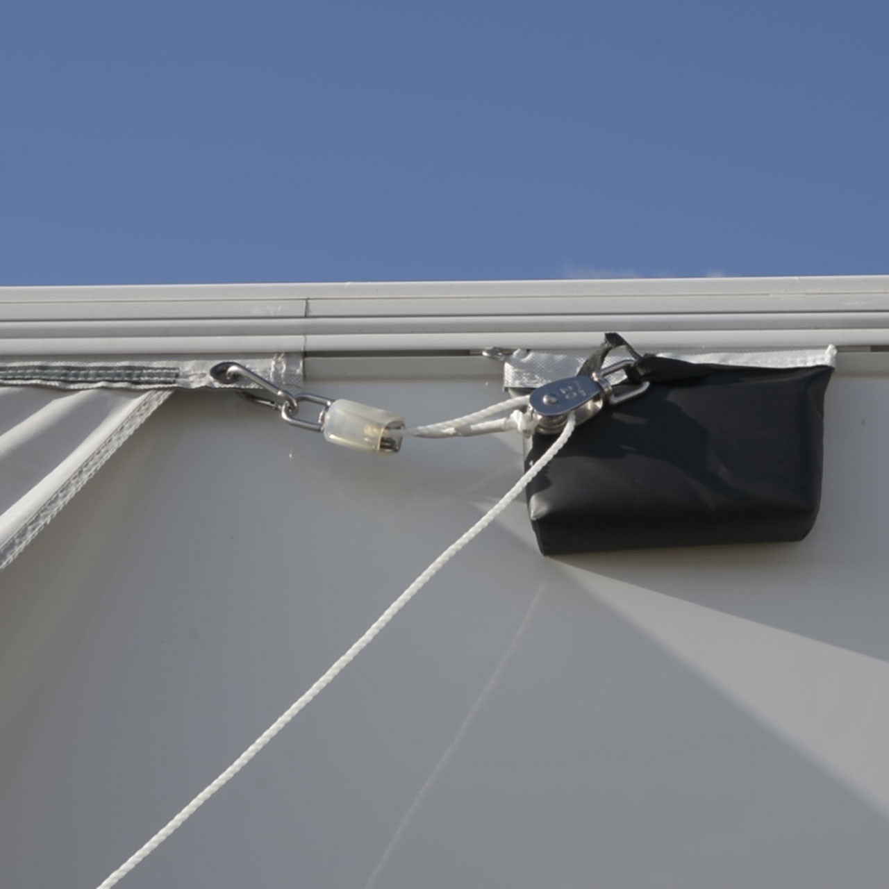 79 Awning Pulley System Aluminum Sun Shade Roof Awning