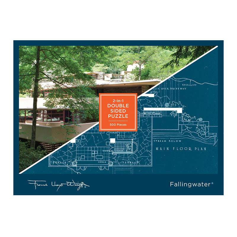 Frank Lloyd Wright Fallingwater 2-Sided 500 Piece Jigsaw Puzzle