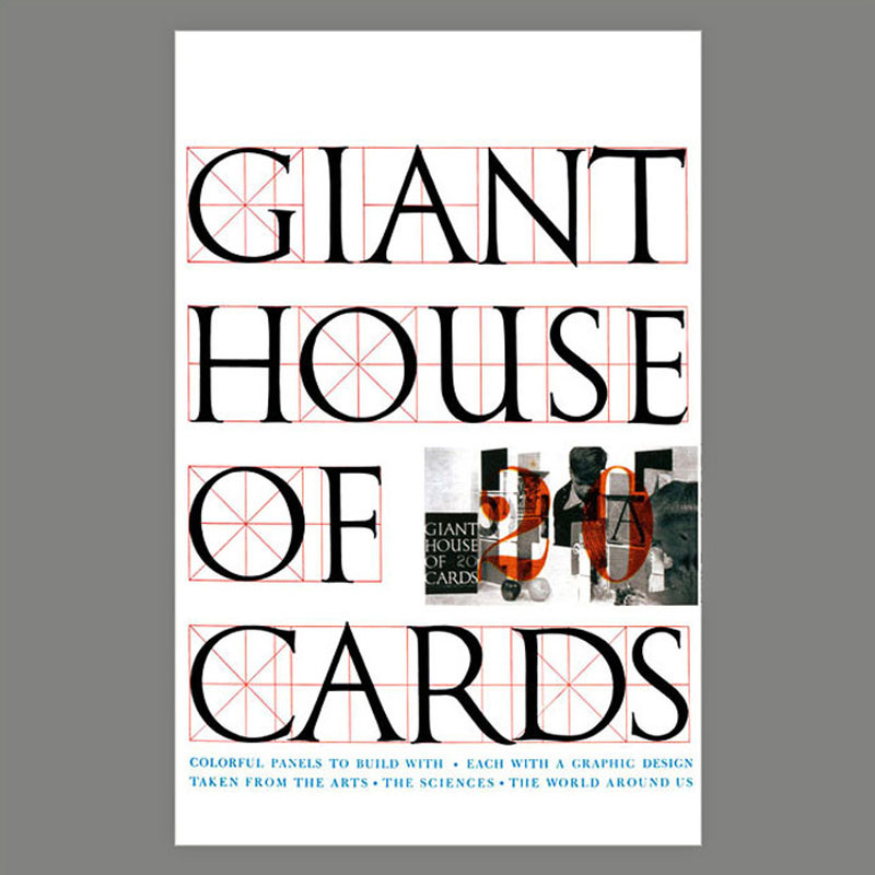 Charles and Ray Eames House of Cards - GIANT