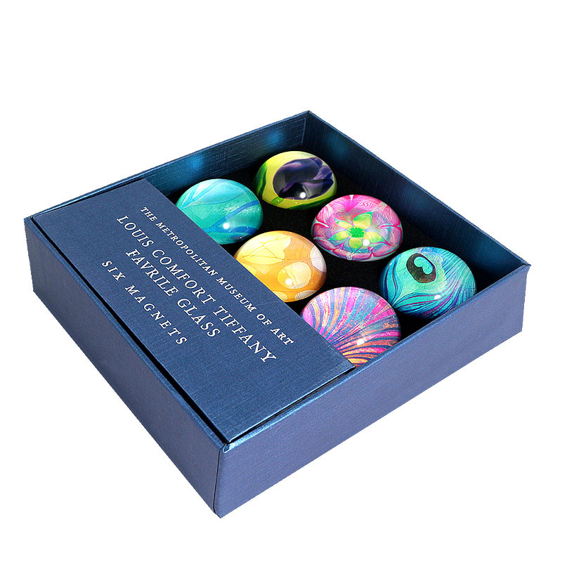 Louis C. Tiffany Favrile Glass Domed Magnets