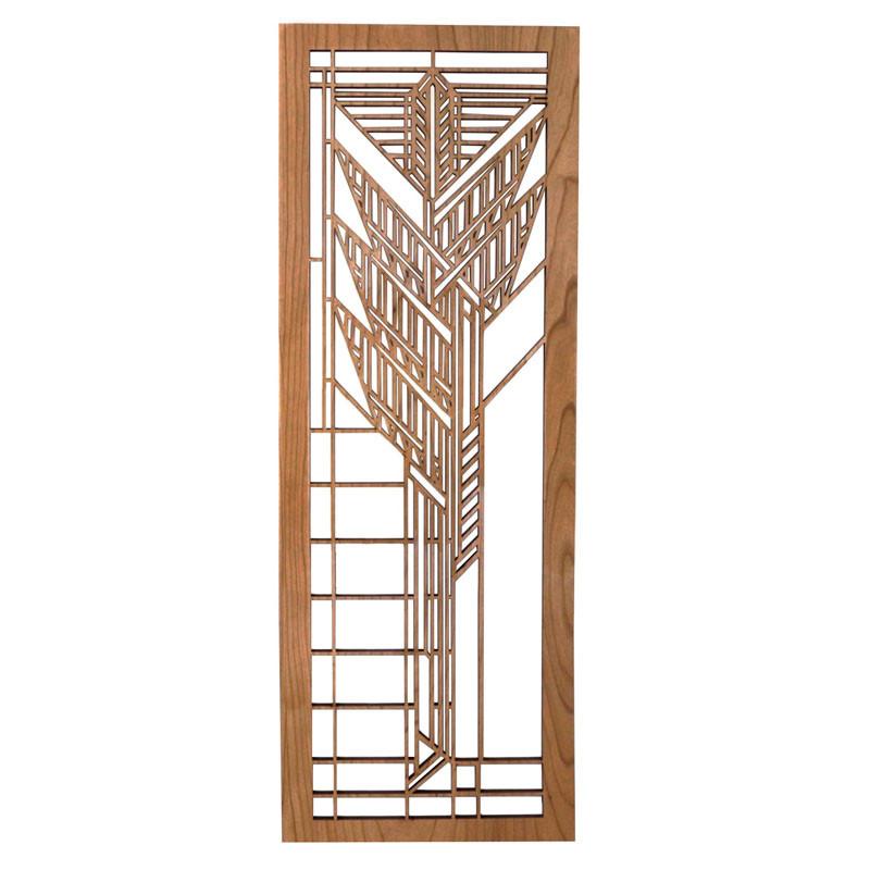 Frank Lloyd Wright Dana Sumac Wood Art Screen Wall Panel Cherry