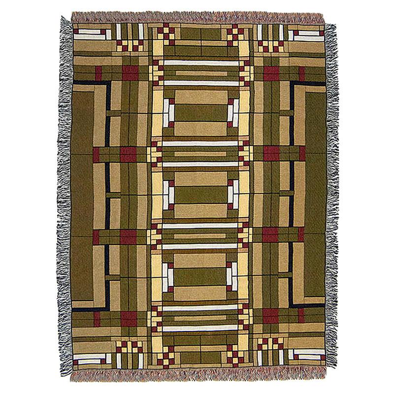 Frank Lloyd Wright Oak Park Tapestry Throw