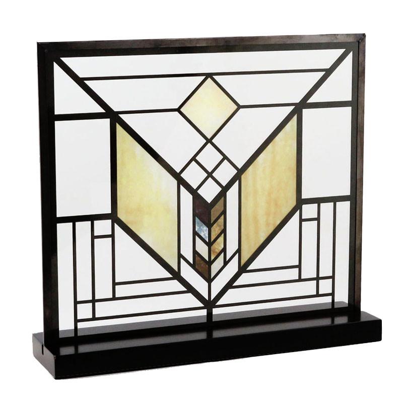 Frank Lloyd Wright Lake Geneva Tulip Stained Glass