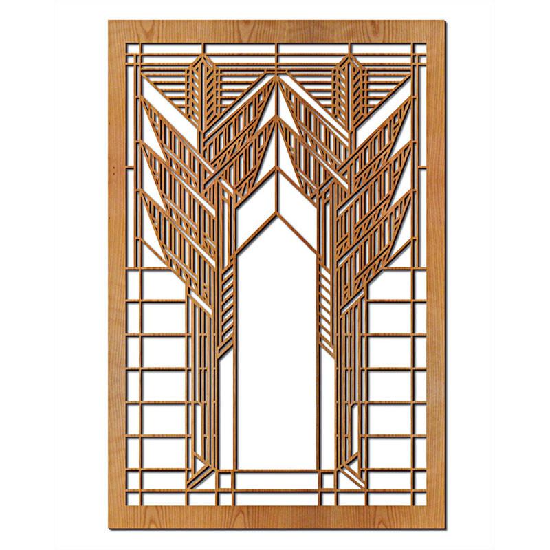 Frank Lloyd Wright Double Dana Sumac Wood Wall Panel