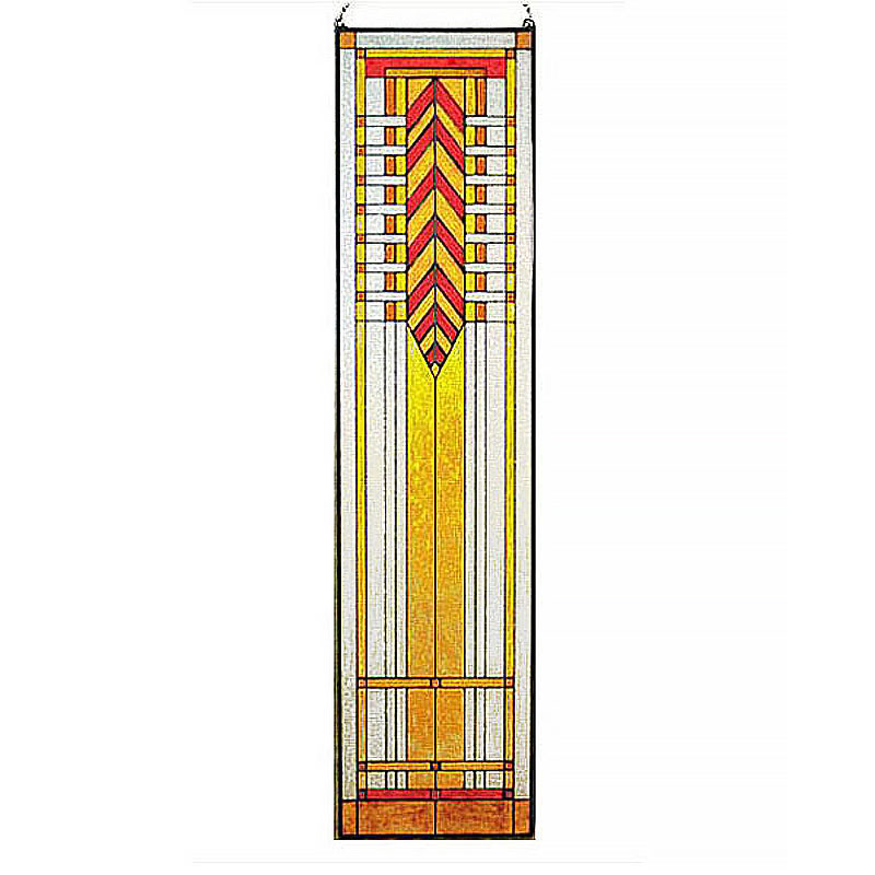 Arts and Crafts Tall Prairie Window Art Glass Panel 7