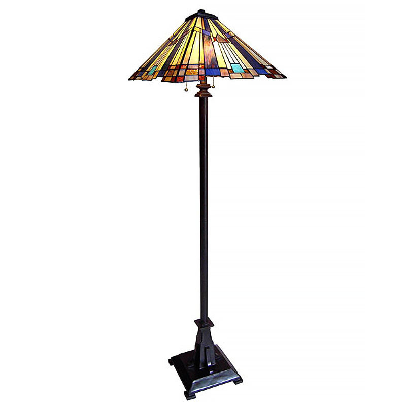 Mission 2 Arts & Crafts Stained Glass Floor Lamp