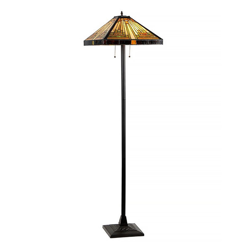 Innes Arts & Crafts Stained Glass Floor Lamp