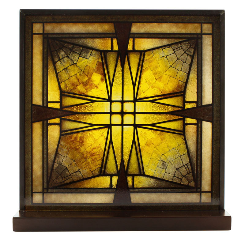 Frank Lloyd Wright Thomas House Vestibule Ceiling Light Glass