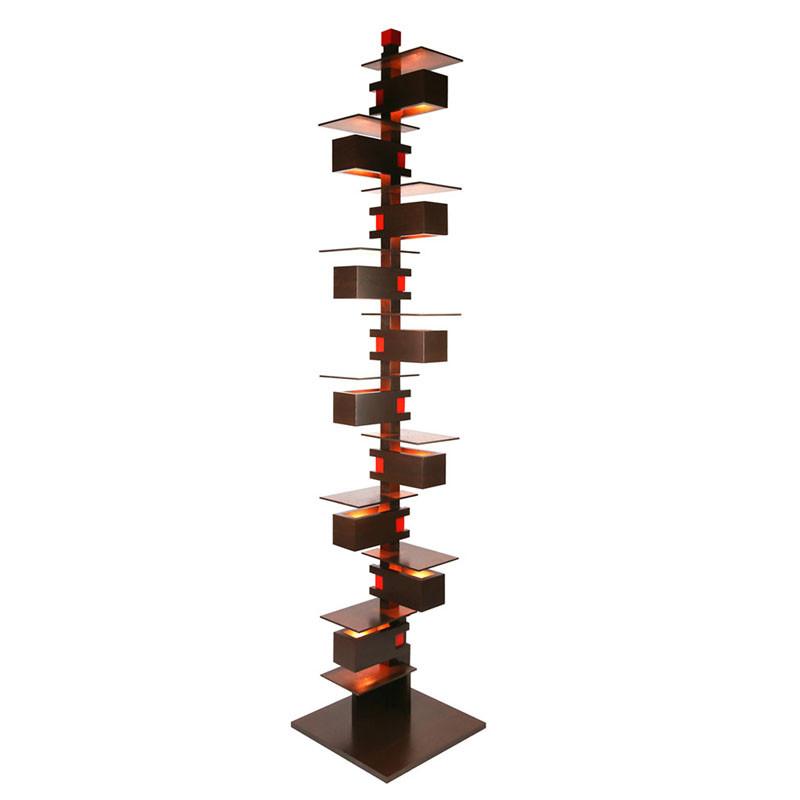 Frank Lloyd Wright Taliesin 2 Floor Lamp - Walnut